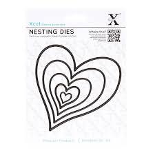 Xcut Dies Nesting Dies - Homespun Heart (5pcs)
