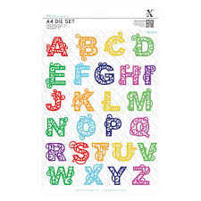 Xcut A4 Die - Filigree Alphabet