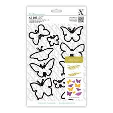 Xcut A5 Die Set - Butterflies (10pcs)