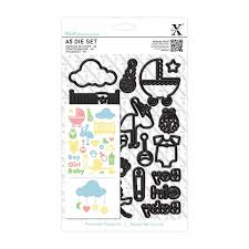 Xcut A5 Die Set - New Baby Icons (23pcs)