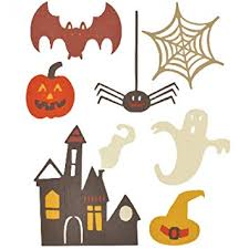 Sizzix Thinlets 7 dies Spooky Halloween Set