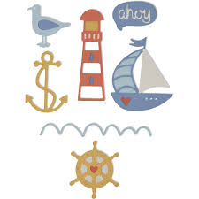 Sizzix Thinlets 7 dies Nautical