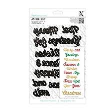 Xcut Dies A5 Die Set (14pcs) - Christmas Sentiments