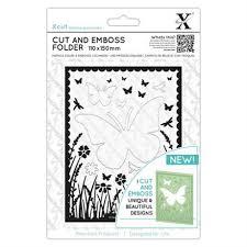 Xcut Cut and Emboss Folder 110 x 150mm - Butterfly Appeture