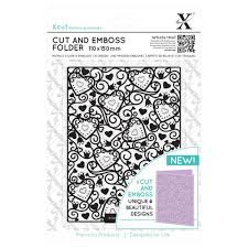 Xcut Cut and Emboss Folder 110 x 150mm - Heart Pattern