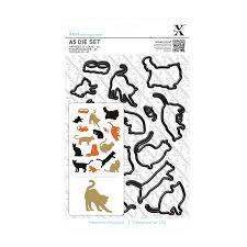 Xcut Dies A5 Die Set (16pcs) Mixed Cats