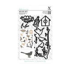 Xcut Dies A5 Die Set (14pcs) Mixed Birds