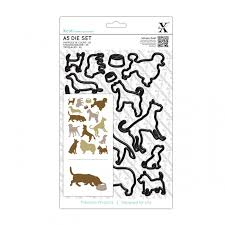 Xcut Dies A5 Die Set (15pcs) Dogs