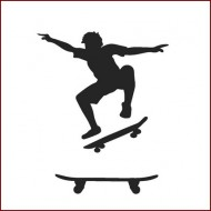 Imagination Craft 15cm x 15cm Stencil - Skateboard Boy