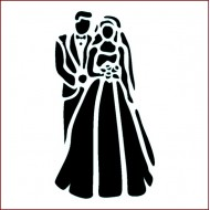 Imagination Crafts 15cm x 15cm Stencil - Bride and Groom