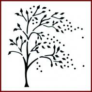 Imagination Craft 15cm x 15cm Stencil - Windy Tree