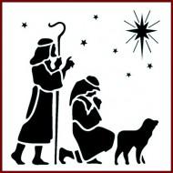 Imagination Craft 15cm x 15cm Stencil - Shepherd Star