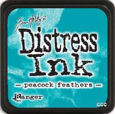Distress Ink - Peacocks Feathers