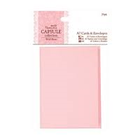 Docrafts Papermania Capsule Collection Wild Rose A7 Cards and Envelopes 20pk