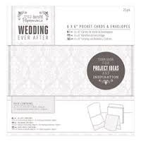 Docrafts Papermania Wedding Ever After 6x6 Pocket Cards and Envelopes 25pk
