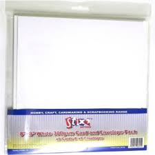 Stix2 Anything 8x8 White 300gsm Card and Envelope Pack
