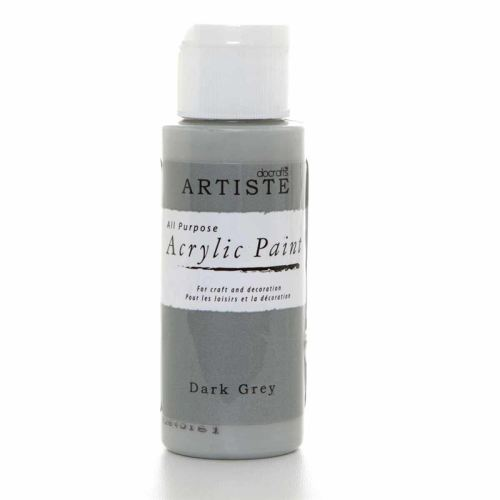 Artiste Acrylic Paint - Dark Grey