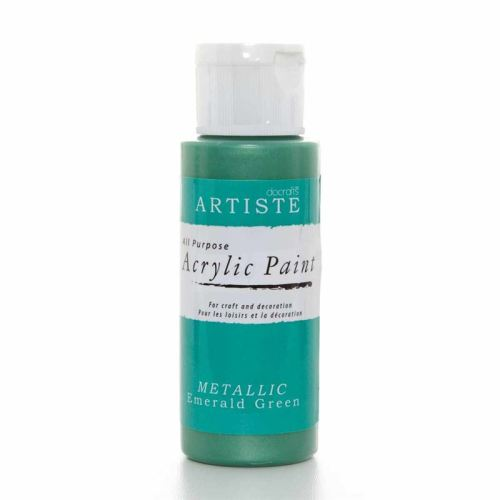 Artiste Acrylic Paint - Metallic Emerald Green