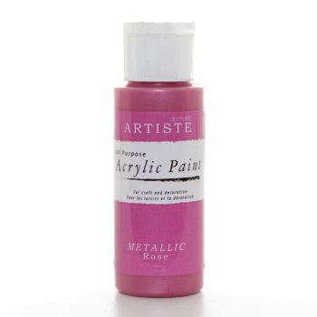 Artiste Acrylic Paint - Metallic Rose