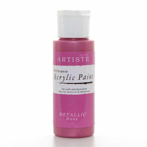 Artiste Acrylic Paint - Metallic Rose