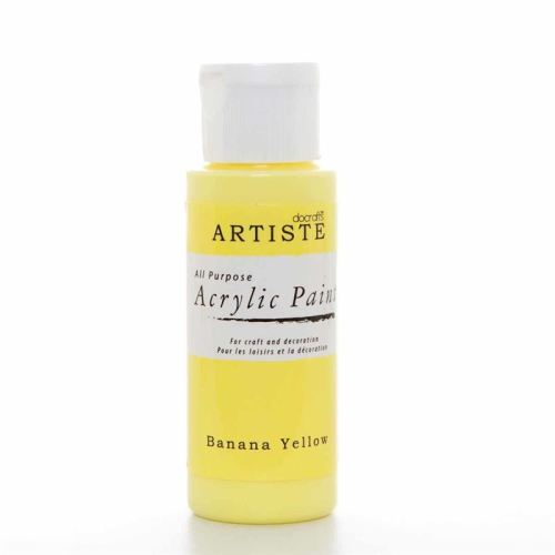 Artiste Acrylic Paint - Banana Yellow
