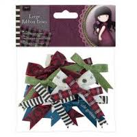 Santaro Ribbon Trim Bows - 12pcs
