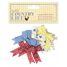 Country Life Large Ribbon Bows