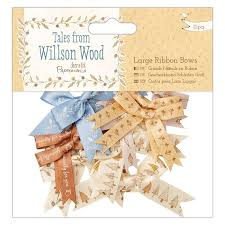 Tales From Wilson Wood Large Ribbon Bows 12pcs