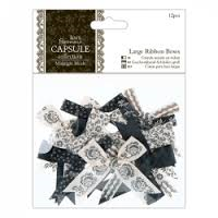 Capsule Midnight Large Ribbon Bows 12pcs