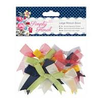 Simply Floral Large Ribbon Bows 12pcs