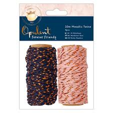 Opulent Forever Friends 20m Metallic Twine 2pcs