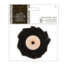 capsule collection Midnight Blush Pleated Fabric Trim