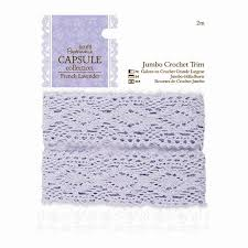 capsule collection French Lavender Jumbo Crochet Trim