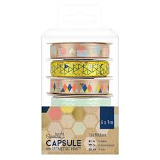 Capsule Geometric Kraft 6 x 1m Ribbon