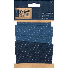 Denim Blue 1m Ribbon - Spot