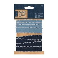 Denim Blue 1m Ribbon - Denim