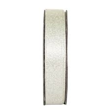 Everyday Ribbons 3m Glitter Satin - Soft Silver