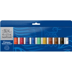 Winsor & Newton - Cotman Water Colours - 12 tube set.