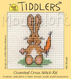 Tiddlers Cross Stitch - Bunny with Carrot