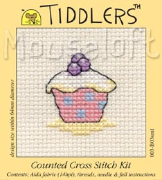 Tiddlers Cross Stitch - Cupcake