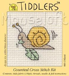 Tiddlers Cross Stitch - Snail