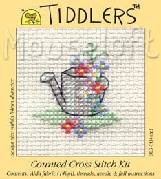 Tiddlers Cross Stitch - Floral Watering Can