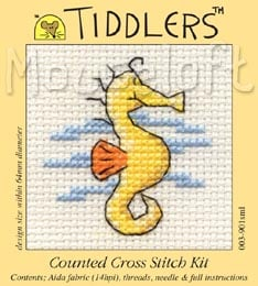 Tiddlers Cross Stitch - Seahorse
