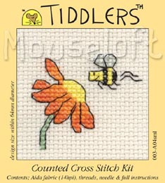 Tiddlers Cross Stitch - Visiting Bee
