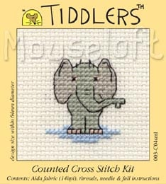 Tiddlers Cross Stitch - Elephant