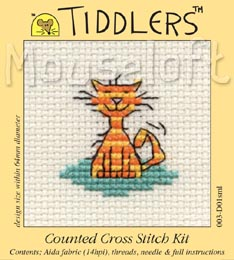 Tiddlers Cross Stitch - Contented Cat