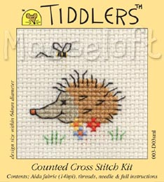 Tiddlers Cross Stitch - Summertime Hedgehog