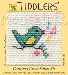 Tiddlers Cross Stitch - Singing Bird