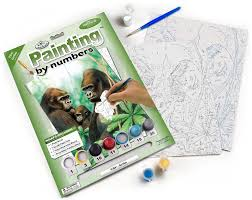 Royal and Langnickel Painting by numbers PJS41-3T Gorillas