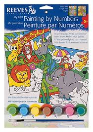 Reeves Painting by numbers PPNF308 Jungle Fun Jungle